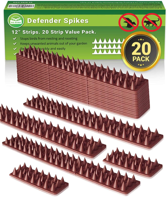 Defender Spikes Outdoor Fence Security Control Cat Bird Repe