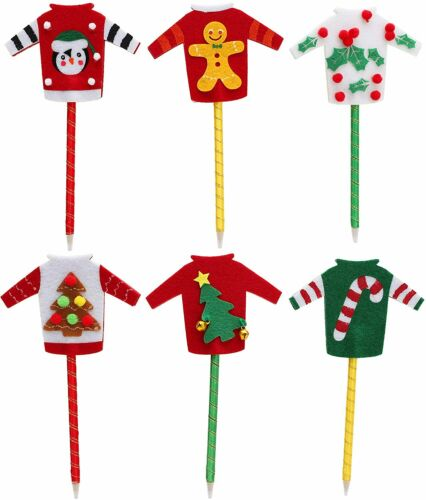 Toyland%C2%AE+Christmas+Jumper+Pens+-+Pack+of+6+-+Novelty+Stocking+Fillers+-+C72X6