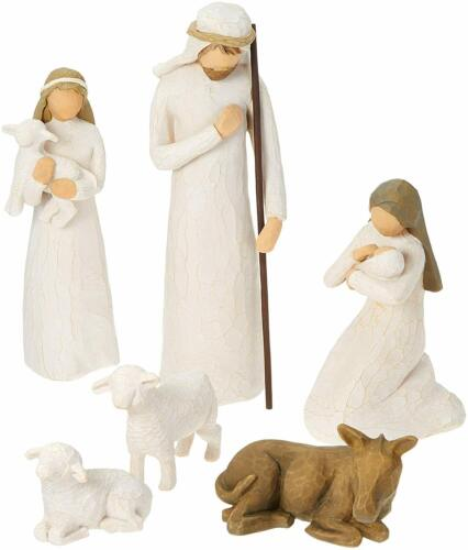 Willow Tree hand-painted sculpted figures, Nativity, 6 pcs 26005 - NEW IN BOX
