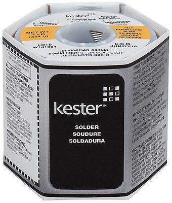 Kester Solder - 44 Rosin Core Solder6040.0311lb. Spool New