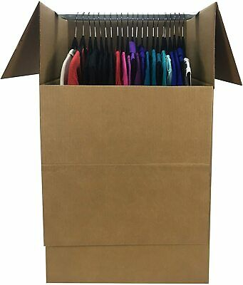 6-pack Wardrobe Clothing Moving Boxes - 24 Inch X 24 Inch X 40 Inch