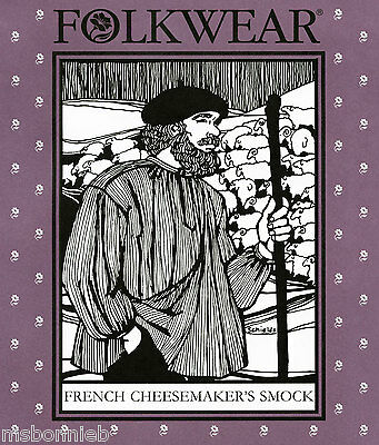 Folkwear French Cheesemaker's Smock - Loose Shirt Sewing Pattern 102 Men/misses