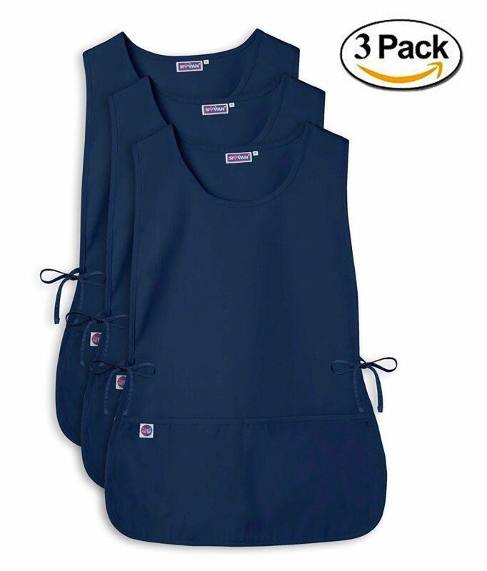 Sivvan Unisex Cobbler Apron  Adjustable Waist Ties 2 Deep front pockets (3 Pack)