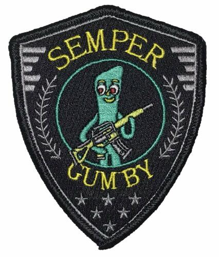Semper Gumby - Embroidered Morale Patch with hook backing