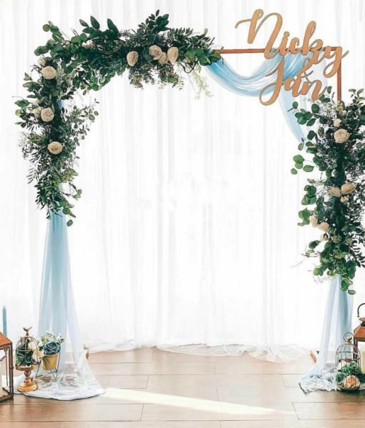 Wrought Iron Gothic Arch for Climbing Flowers Wonderful Wedding Arbor