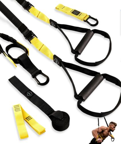 Suspension Trainer TRX Style Premium Training Kit with intergrated door anchor