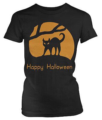 Halloween Tshirts Designs (Happy Halloween - Cat Design Trick or Treat Spooky Juniors)