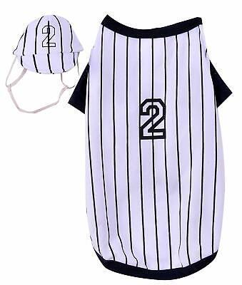 Baseball Player Dog Costume - MEDIUM - Shirt & Hat - Halloween - Rubie's - NWT