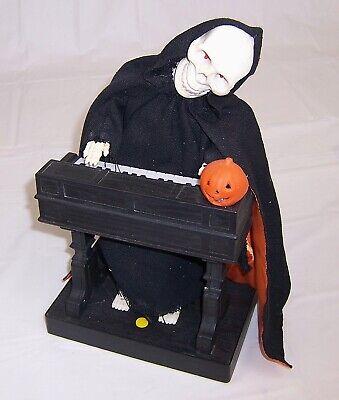 Vtg Animated Halloween Phantom of the Opera Skeleton on Organ,Light Up,Music ](Halloween Organ Music)
