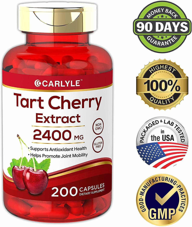Tart Cherry Extract 2400mg 200 Capsules Antioxidant Promote