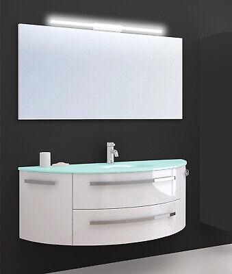 Cote Azur 120cm Waschtisch mit LED Spiegel Waschbecken Unterschrank Badmöbel