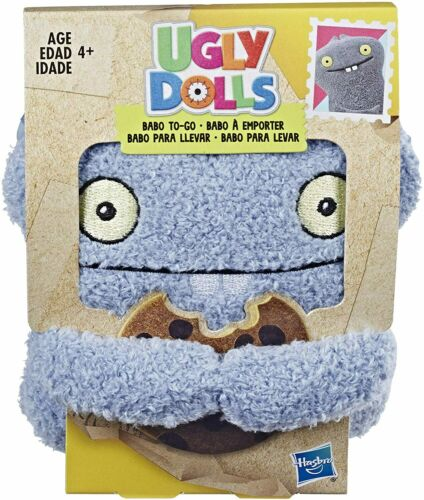 """Hasbro Ugly Dolls Babo To Go Stuffed Plush Toy 5""""  Grey Backpack Clíp"""