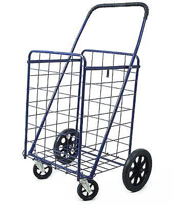 Metallic Heavy Duty Metal Caster Swivel New Front Wheels Folding Shopping Cart