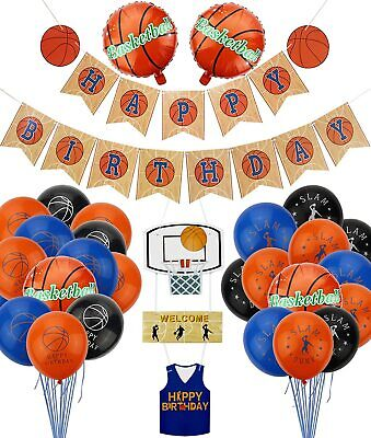 Basketball Birthday Party Supplies for Kids Boys and Basketball Fans Party 34pc