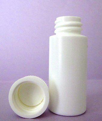 1 Oz Hdpe Cylinder Round Plastic Bottles Wscrew-on Caps Lot Of 100