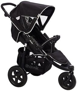 New-Hauck-Caviar-Grey-Viper-3-Wheel-Pushchair-Stroller-From-Birth-Baby-Buggy