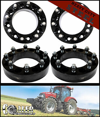High Quality Steel Skid Steer Wheel Spacers 2 8 Lug Bobcat John Deere Terex