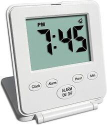 Digital Travel Alarm Clock - No Bells, No Whistles, Simple Basic Operation, L...