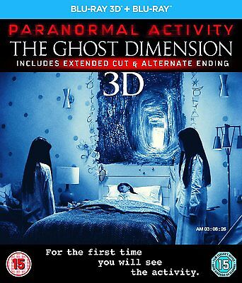 PARANORMAL ACTIVITY The Ghost Dimension 3D Blu ray SEALED/NEW + 2D Film/Movie 5