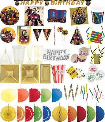 rty Deko Feier Fete Motto Avengers Infinity War (Avengers Motto-party)