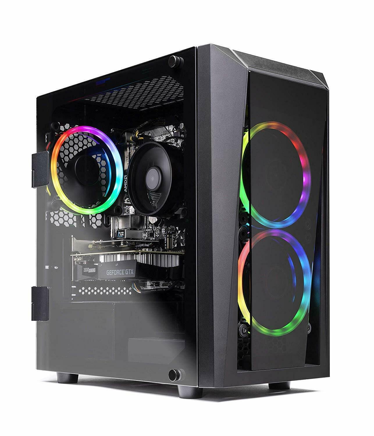 SkyTech Blaze II Gaming Computer PC Desktop AMD Ryzen 5 6-Co