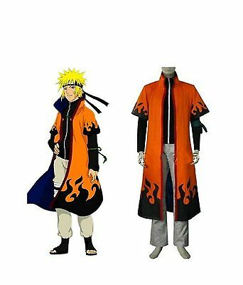 Naruto 6th Leaf Village Hokage Naruto Uzumaki Cosplay Costume Robe Cloaks - Costume Village
