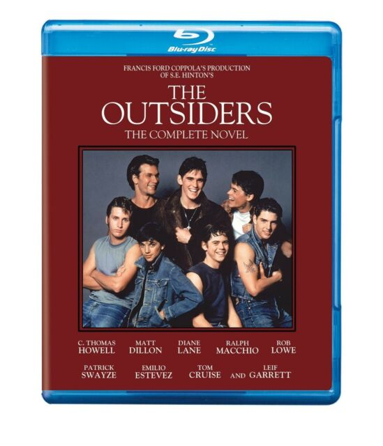 The OUTSIDERS (COMPLETE NOVEL)(1983) BLU RAY ALL REGIONS PATRICK SWAYZE ROB LOWE