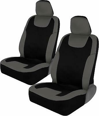 Premium Fabric Black Gray Car Seat Covers for Automotive - Polyester Interior