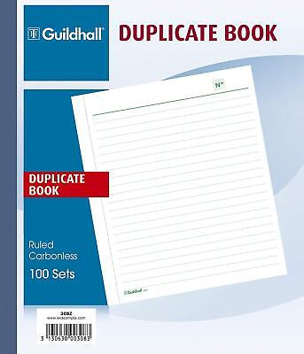 Exacompta Guildhall 210 x 180 mm, Duplicate Book, Ruled, 100 Sets, Cloth Tape