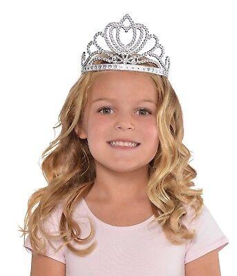 Mädchen Silber Prinzessin Königin Royalty Tiara Krone Kostüm Verkleidung Zubehör