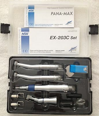 4 Holes Nski Style Dental Pana Max High Low Speed Ex203c Handpiece Kit