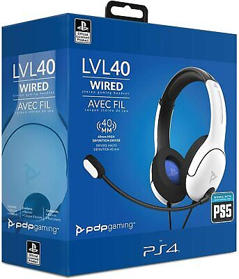 Cascos Auriculares Headset con cable gaming PDP LVL40 para PS4 PS5 Nuevo