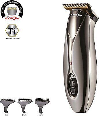 Cortapelos Profesional sin cables cuchillas Titanio, 3 cabezales, aceite,cepillo