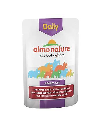 Almo Nature Daily Cat Food With Chicken And Duck, 70 G, Pack Of 30