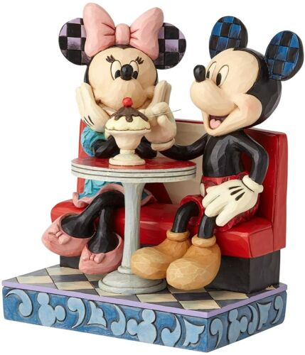 Enesco Disney Traditions by Jim Shore Mickey and Minnie Mouse Soda Shop Figurine