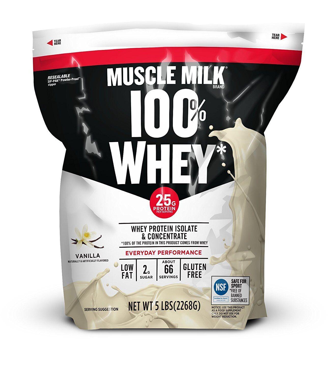 Muscle Milk Cytosport 100% Whey Protein Powder Isolate - Van