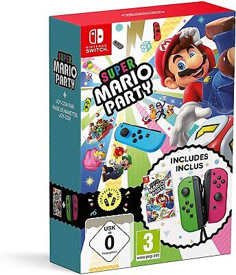 Super Mario Party + Neon Green/ Neon Pink Joy-Con Nintendo Switch Limited Pack