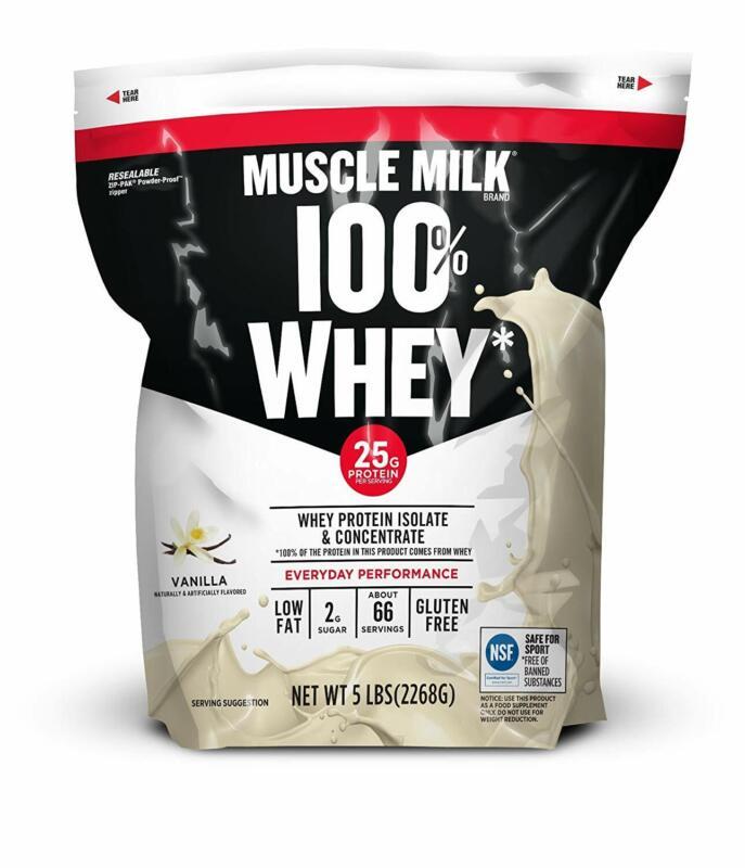 100 percent whey protein powder vanilla 25g