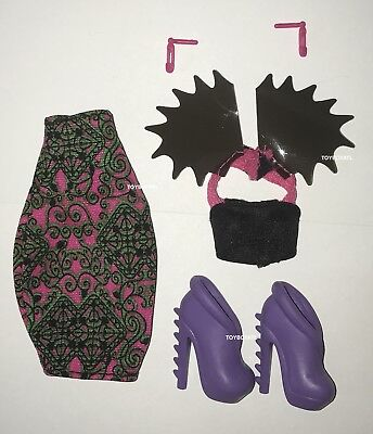 Monster High Fierce Rockers Venus McFlyTrap Doll  Outfit Clothes Skirt Shoes NEW