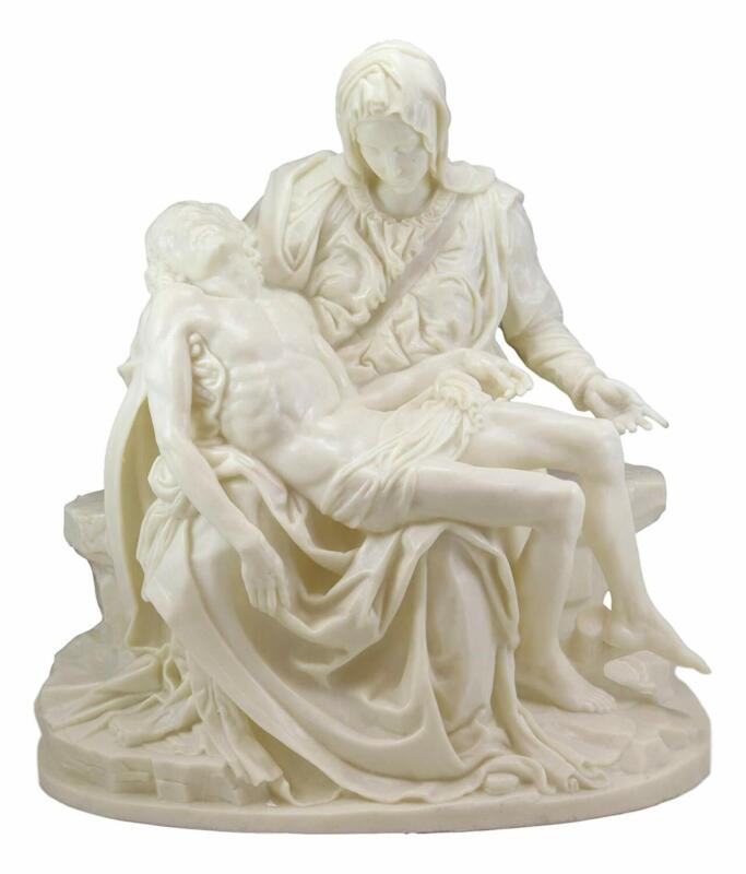 "Large Michelangelo Vatican Catholic Reproduction Of La Pieta Statue 18.25""Tall"