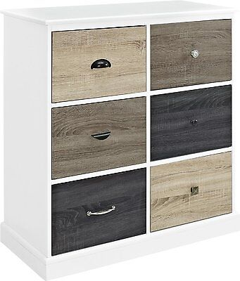 كومودينو جديد Chest of Drawers Furniture White Wood Cabinet Dresser Storage Clothes Bedroom