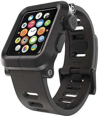 Polycarbonate Silicone (LUNATIK EPIK Polycarbonate Case Silicone Strap Apple Watch Series 1 - Black)