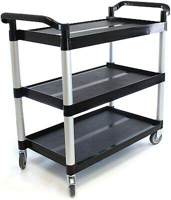 Small Heavy-duty 3-shelf Rolling Serviceutilitypush Cart. 170 Lbs.