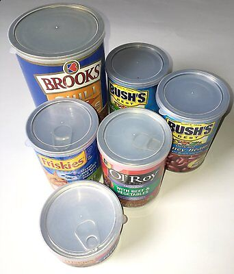 12-Piece ALAZCO Assorted Size Plastic Can Covers Lids For Canned Goods or Pet