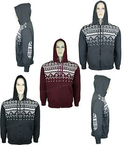 MENS-AZTEC-NORDIC-PRINT-HOODIE-ZIP-UP-HOODED-SWEATSHIRT-TOP
