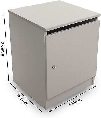 Confidential Waste Cabinet with Lock & Paper Slot (Grey) + FREE Collection Sack