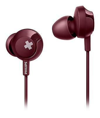 Philips SHE4305RD BASS+ In Ear Wired Headphones with Mic Red NEW for sale  Shipping to India