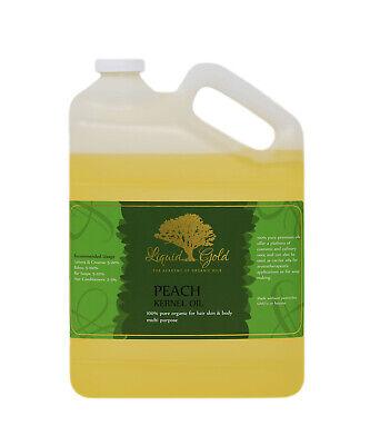 Gallon PREMIUM PEACH KERNEL OIL 100%PURE ORGANIC BEST FRESH NATURAL COLD PRESSED 100% Pure Organic Peach