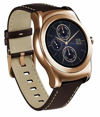LG Watch Urbane Smartwatch 46mm Stainless Steel Gold Leather LGW150.AUSAPG