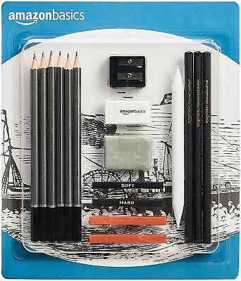 Art Pencil Set (AmazonBasics 17-Piece Set Sketch and Drawing Art Pencil Kit)